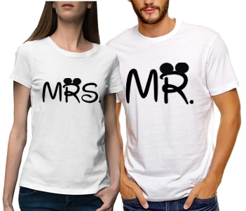 Парные футболки Mr & mrs mouse